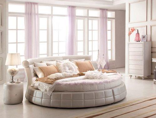 Круглая кровать с подъемным механизмом