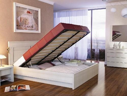 Кровати с подъемным механизмом фото