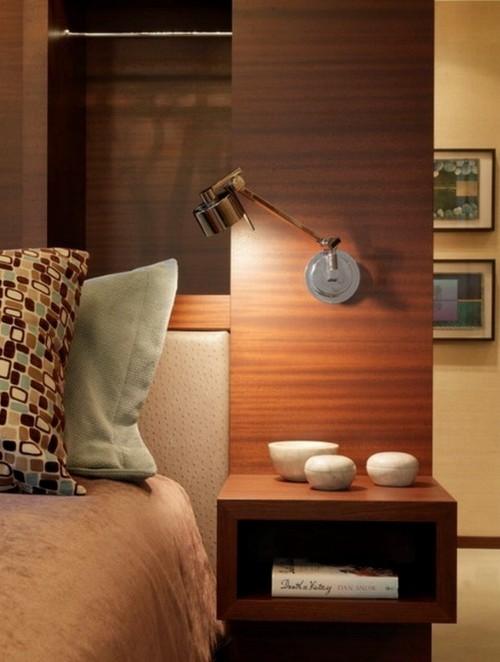 Оригинальный настенный торшер для спальни