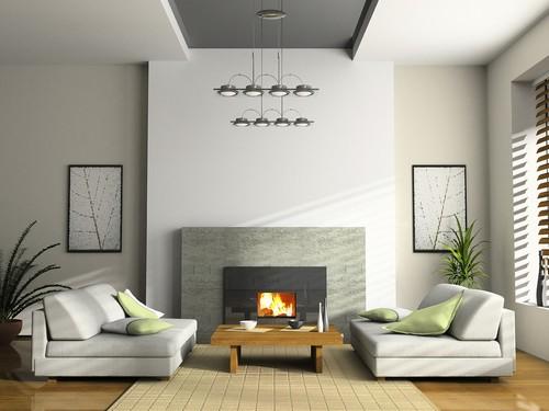 серый цвет в интерьере гостиной фото