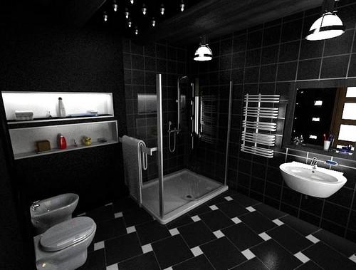 Светильники для черной ванной комнаты