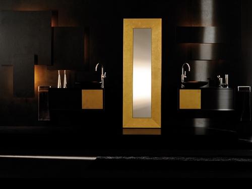Ванная комната в черном и желтом цвете