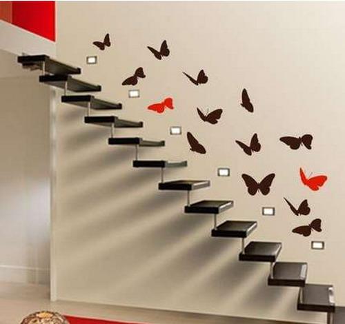 как сделать бабочек на стену
