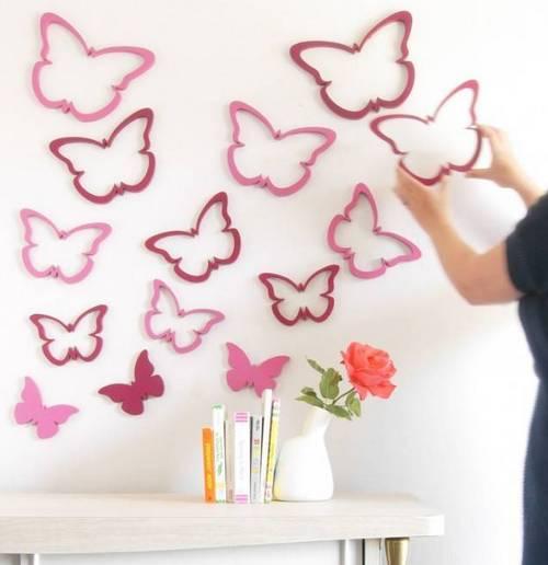 Трафареты для декора в виде бабочек