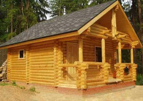 Деревянный домик для бани на даче