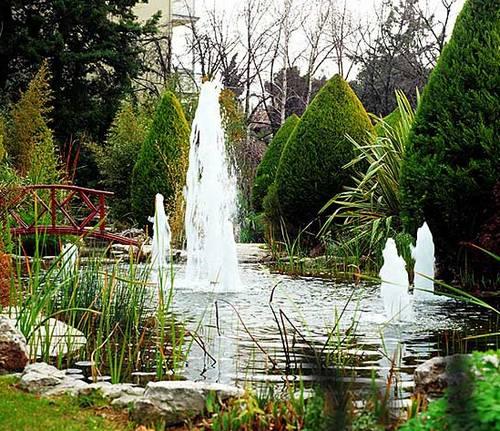 Погружные фонтаны для дачных водоемов
