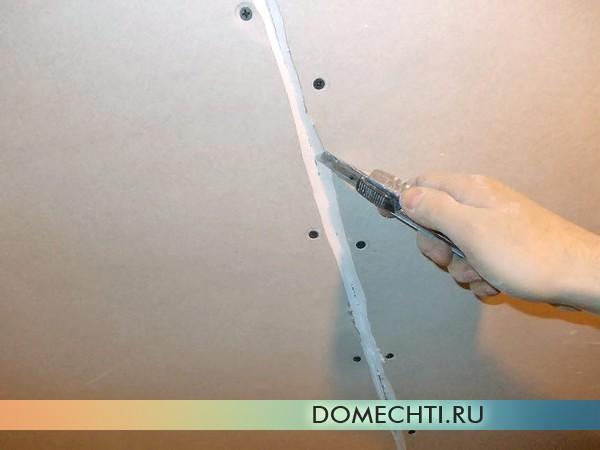 Шпаклевка потолка из гипсокартона фото