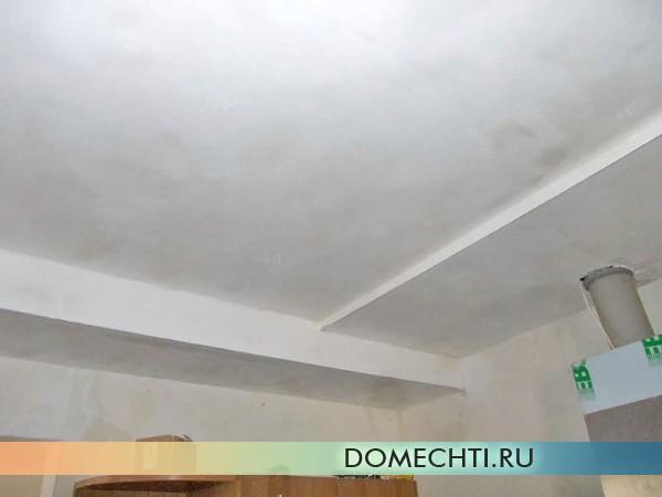 шпаклевка гипсокартонного потолка