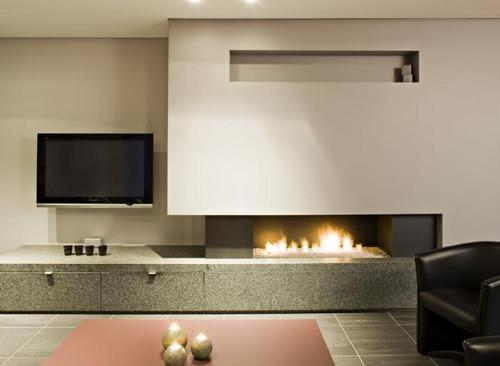 Газовый камин в интерьере квартиры