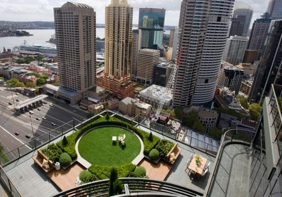 Сад на крыше многоэтажного дома