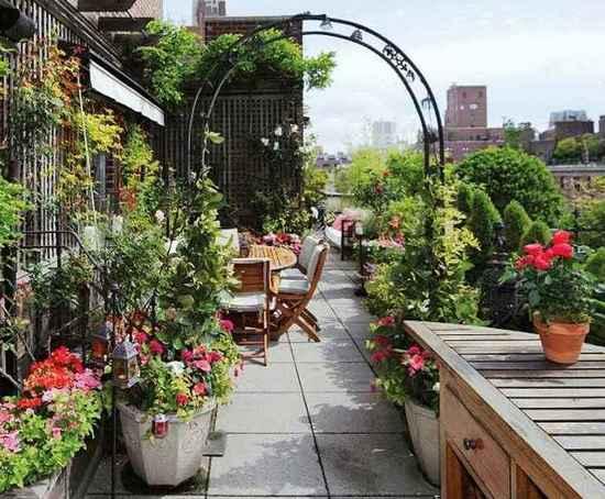 Зеленые насаждения на крышах домов