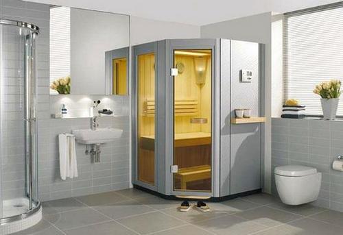 Дизайн ванной комнаты с сауной фото