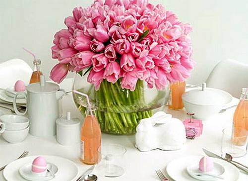 Пасхальные украшения из цветов