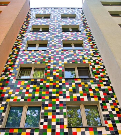 отделка фасадов керамической плиткой