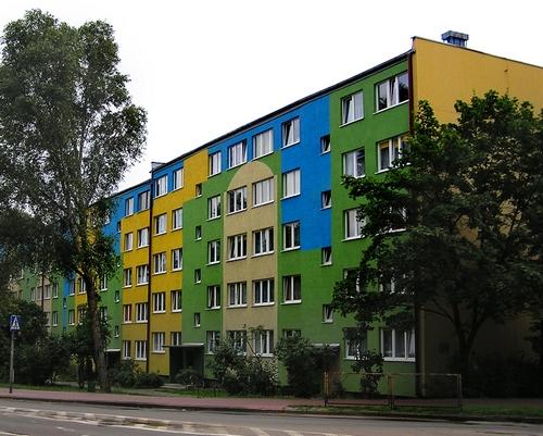 Цветная фасадная штукатурка для многоэтажных домов