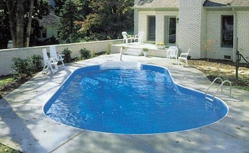 бассейн на даче своими руками фото