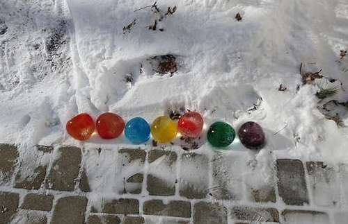 Ледяные шары фото