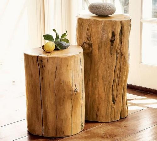 Мебель из бревен - табуретки
