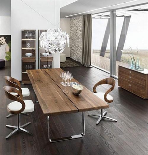 Деревянная мебель из ценных пород в интерьере