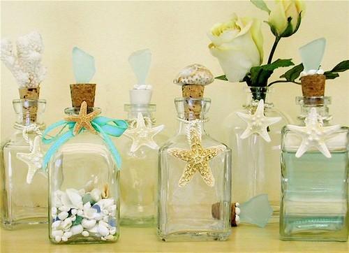 оформление бутылок в морском стиле