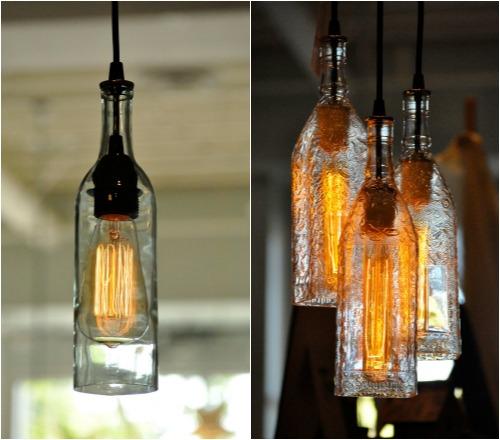 светильники из бутылок своими руками