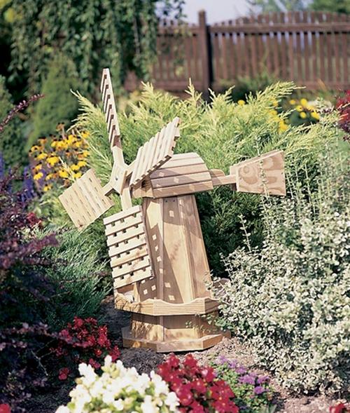 Деревянные мельницы для сада фото