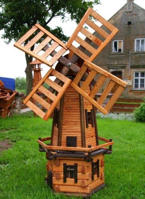 Деревянные мельницы для сада