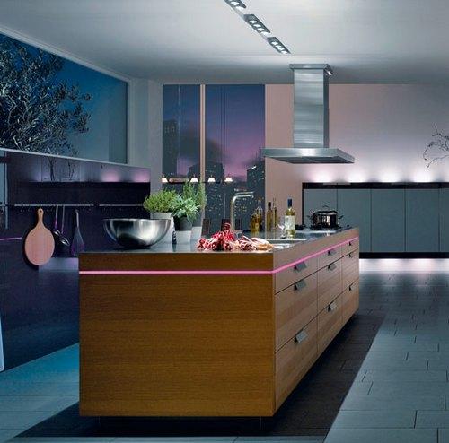 Современный дизайн рабочей зоны кухни