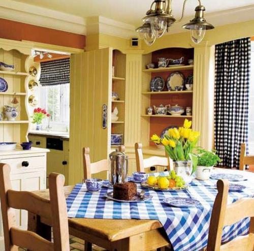 Красивый кухонный текстиль фото