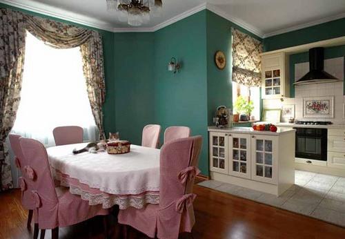 Текстиль для кухни в викторианском стиле