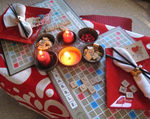 Украшение стола в романтическом стиле