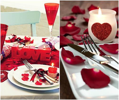 Сервировка стола к романтическому ужину