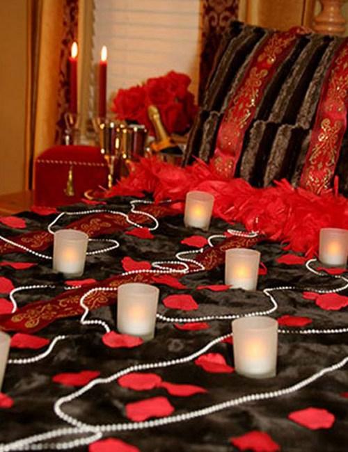 Романтический вечер дома как украсить спальню