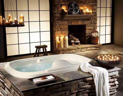 Романтическая обстановка в ванной комнате фото