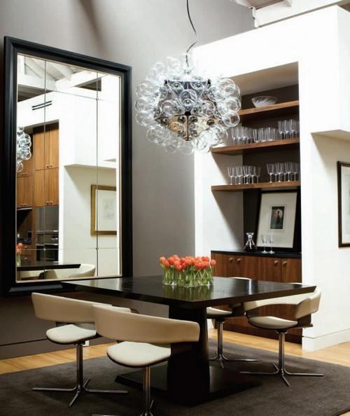 Как зрительно увеличить комнату с помощью зеркала