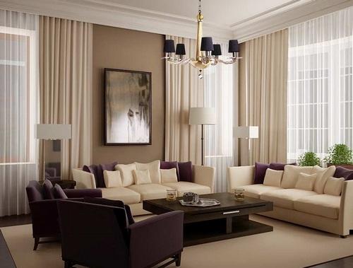 Светлые шторы для зрительного увеличения комнаты