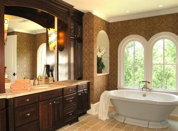 Оформление ванной в классическом стиле