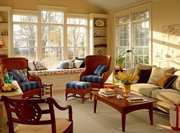 Светлая комната в классическом стиле