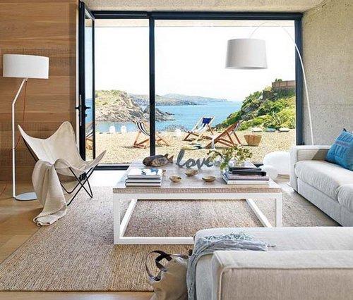 Летний дизайн квартиры на побережье