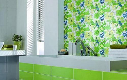 Плитка для ванной с летними мотивами