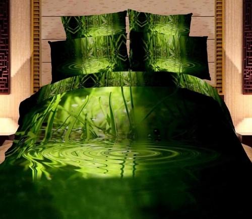 Постельное белье 3D зеленое