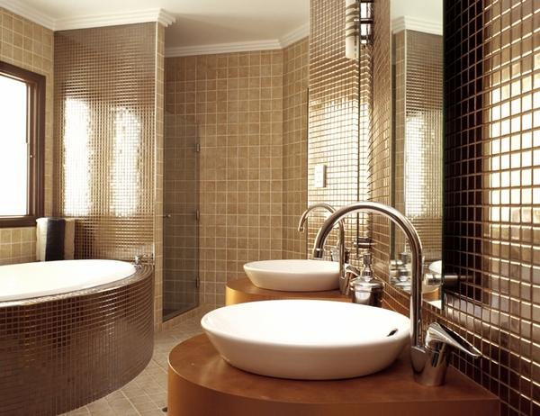 Современная ванная комната в стиле модерн