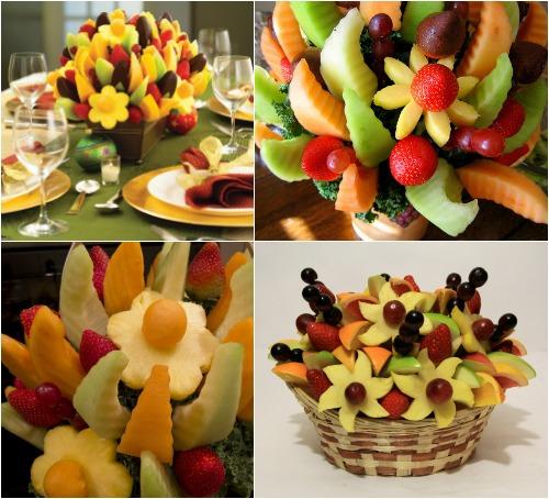 Украшение детского стола из фруктов