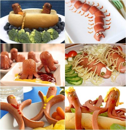 Оформление блюд из сосисок