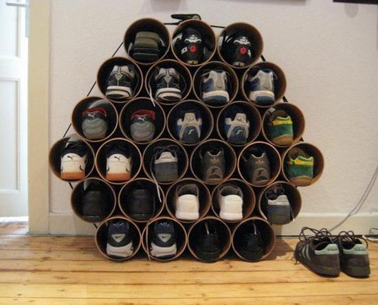 Идея для хранения обуви в квартире