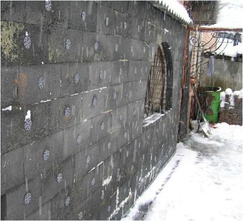 Наружное утепление стен пеностеклом