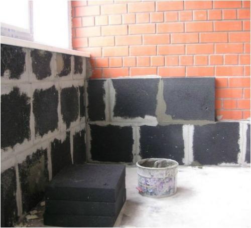 Утепление кирпичных стен пеностеклом