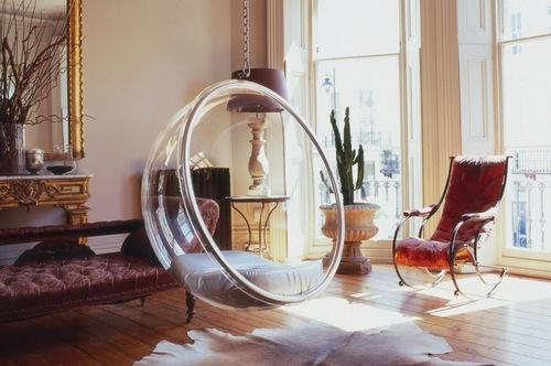 прозрачное подвесное кресло