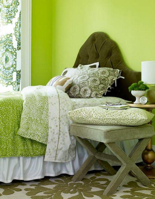 Спальня в зеленом цвете фото