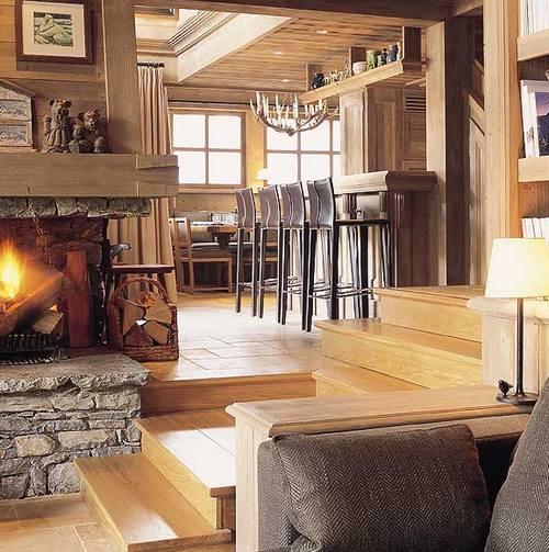 Интерьер дома в горах фото